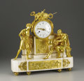 Decorative Arts, French:Other , A French Louis XVI Marble and Gilt Bronze Clock. Attributed toClaude Galle, Paris, France. Circa 1780. Marble and gilt br...