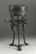 Decorative Arts, Continental:Other , An Italian Figural Bronze Jardiniere. Italian, after the antiquefrom the Grand Tour. Late Nineteenth Century. Bronze. Mar...