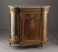 Furniture: French, A French Louis XVI Style Meuble d'Appui. Unknown maker,France. Late Nineteenth Century. Tulipwood, kingwood, marble, ...