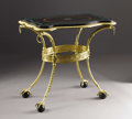 Furniture , A Russian Empire Gilt Bronze and Inlaid Marble Table. Unknown maker, Russia. Early Nineteenth Century. Gilt bronze, marble...