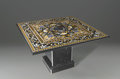 Furniture : Continental, A Square Pietre Dure Table Top. Unknown maker, India. TwentiethCentury. Marble and semi-precious stone. Unmarked. 58.5 in...