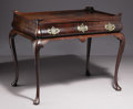 Furniture: English, An Irish George III Mahogany Tea Table. Unknown maker, Ireland. MidEighteenth Century. Mahogany veneer and solids, brass...