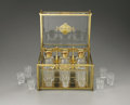 Decorative Arts, Continental:Other , A Brass and Glass Tantalus. Unkown maker, possibly France.Twentieth Century. Brass and glass. Unmarked. 8 in. high x 10.5...(Total: 19 Items)