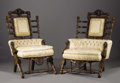 Furniture , Two American Renaissance Revival Style Upholstered Arm Chairs. George Jacob Hunzinger (1835-1898), New York, New York. Ci... (Total: 2 Items Item)