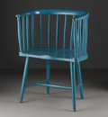 Furniture, A Charles Rennie Mackintosh Argyle Street Dutch Kitchen Windsor Chair Traces of original green color in places, molded se...