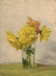 EDWARD HERBERT BARNARD (American, 1855-1909) Still Life with Bouquet of Yellow Flowers, 1887 Oil on canvas 14 x 10-1/