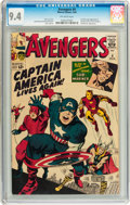 Silver Age (1956-1969):Superhero, The Avengers #4 (Marvel, 1964) CGC NM 9.4 Off-white pages....