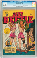 Golden Age (1938-1955):Superhero, Blue Beetle #54 (Fox Features Syndicate, 1948) CGC VF- 7.5 Cream to off-white pages....
