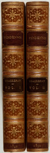 Books:Fine Bindings & Library Sets, [Fine Bindings]. William Makepeace Thackeray. The History of Pendennis. His Fortunes and Misfortunes, His Friends ... (Total: 2 Items)