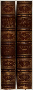 Books:Fine Bindings & Library Sets, [Fine Bindings]. John Forster. The Life and Times of Oliver Goldsmith. London: Bickers & Son, 1877. Sixth edition. T... (Total: 2 Items)