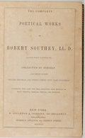 Books:Fine Bindings & Library Sets, [Fine Bindings]. The Complete Poetical Works of Robert Southey. New York: D. Appleton, 1898. New edition. Tall octav...
