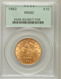 Liberty Eagles: , 1882 $10 MS60 PCGS. PCGS Population (944/4667). NGC Census:(1161/10502). Mintage: 2,324,480. Numismedia Wsl. Price for pro...