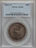 Seated Half Dollars: , 1861-O 50C XF40 PCGS. PCGS Population (11/230). NGC Census:(2/214). Mintage: 2,532,633. Numismedia Wsl. Price for problem ...