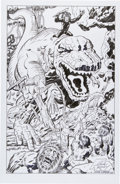 Original Comic Art:Covers, Angel Gabriele Devil Dinosaur Alternate Cover Re-CreationOriginal Art (2009). ...