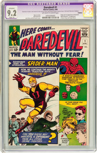 Daredevil #1 (Marvel, 1964) CGC Apparent NM- 9.2 Slight (A) Off-white to white pages