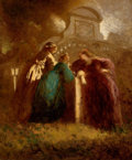 Fine Art - Painting, European, ADOLPHE JOSEPH THOMAS MONTICELLI (French, 1824-1886). Les dames de la Reine, circa 1865. Oil on canvas. 25-1/2 x 21 inch...