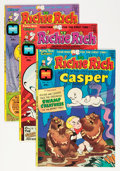 Bronze Age (1970-1979):Cartoon Character, Richie Rich and Casper File Copy Group (Harvey, 1974-82) Condition:Average NM-.... (Total: 128 Comic Books)