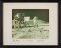 Autographs:Celebrities, Apollo 16 Color Photo Crew-Signed on the Mat....