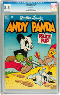 Golden Age (1938-1955):Cartoon Character, Four Color #216 Andy Panda (Dell, 1949) CGC VF+ 8.5 White pages....