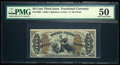 Fractional Currency:Third Issue, Fr. 1365 50¢ Third Issue Justice PMG About Uncirculated 50.. ...