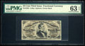 Fractional Currency:Third Issue, Fr. 1294 25¢ Third Issue PMG Choice Uncirculated 63 EPQ.. ...
