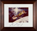 Autographs:Celebrities, Apollo-Soyuz Test Project Crew-Signed Print. ...
