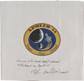 Transportation:Space Exploration, Apollo 14 Flown Beta Cloth Mission Insignia Directly from thePersonal Collection of Mission Lunar Module Pilot Edgar Mitchell...