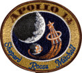 Transportation:Space Exploration, Apollo 14 Flown Embroidered Mission Insignia Patch Directly fromthe Personal Collection of Mission Lunar Module Pilot Edgar M...
