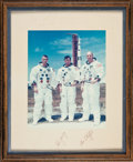 Transportation:Space Exploration, Apollo 10 Large Color Photo Signed on Mat Originally from the Personal Collection of North American Aviation President William...