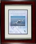 Transportation:Space Exploration, SpaceShipOne Flown Photo on Signed Certificate....