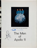 Transportation:Space Exploration, Apollo 11 Crew-Signed Large Color LIFE Magazine Page. ...(Total: 3 Items)