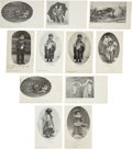 Western Expansion:Goldrush, Group of Eleven Postcards of American Indians in Nevada....