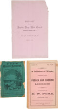 Western Expansion:Goldrush, [California Mining]. Lot of Three Booklets from California...(Total: 3 Items)