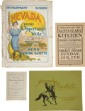 Western Expansion:Goldrush, Lot of Four Nevada Booklets... (Total: 4 Items)