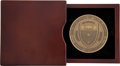 Political:Presidential Relics, University of Texas System Board of Regents Cased Bronze Table Medal, Benefiting Lady Bird Johnson Wildflower Center....