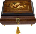Political:Presidential Relics, Handmade Marquetry Music Box....