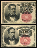 Fractional Currency:Fifth Issue, Fr. 1265 10¢ Fifth Issue Two Examples Choice About New.. ... (Total: 2 notes)