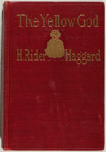 Books:Fiction, H. Rider Haggard. The Yellow God. New York: Cupples &Leon, [1908]. First American edition, first printing. Octavo. ...