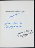 Transportation:Space Exploration, Lunar Photographs from Apollos 8, 10 and 11 Book Signed byBorman, Stafford, and Aldrin. ...