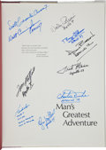 Autographs:Celebrities, Man's Greatest Adventure Book Signed by Ten Astronauts....