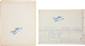 Transportation:Space Exploration, Buzz Aldrin: Two Signed NASA Blueprints for Apollo Lunar Equipment.... (Total: 2 Items)