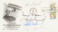 Autographs:Celebrities, Apollo Moonwalkers: Philatelic Cover Signed by Five. ...