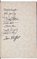 Autographs:Celebrities, First on the Moon Book Signed by Eight Apollo Astronauts....
