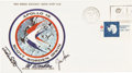 Transportation:Space Exploration, Apollo 15 Crew-Signed Insurance Cover Originally from the Personal Collection of Mission Lunar Module Pilot Jim Irwin, with LO...