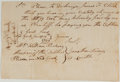 Autographs:Military Figures, Discharge Document from Debtors Prison. New York: January 12, 1799. Discharges James F. Clarke. Approximately 5.25 x 7.75 in...