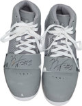 Basketball Collectibles:Others, Kemba Walker Game Worn, Signed Shoes....