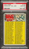 Football Cards:Singles (1970-Now), 1970 Topps Checklist 133-263 #132 PSA Gem Mint 10 - Pop One! ...