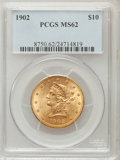 Liberty Eagles: , 1902 $10 MS62 PCGS. PCGS Population (171/121). NGC Census:(239/104). Mintage: 82,400. Numismedia Wsl. Price for problem fr...