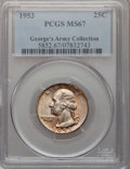 Washington Quarters, 1953 25C MS67 PCGS....