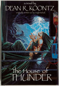 Books:Horror & Supernatural, Dean R. Koontz. SIGNED/LIMITED. The House of Thunder.Arlington Hts.: Dark Harvest, 1988. First hardcover edition, ...